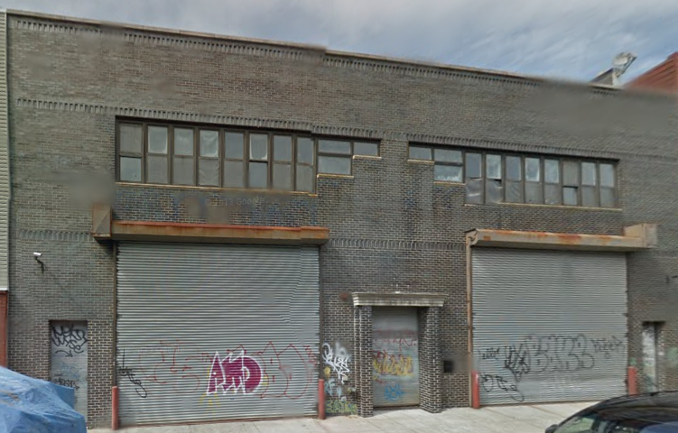 A one-story industrial building currently occupies 137 Frost Street. (Credit: Google)