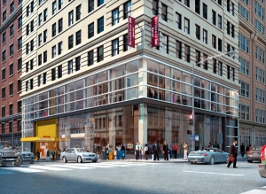 An image of the new Marriott Residence Inn at 170 Broadway. (Credit: Stonehill & Taylor)