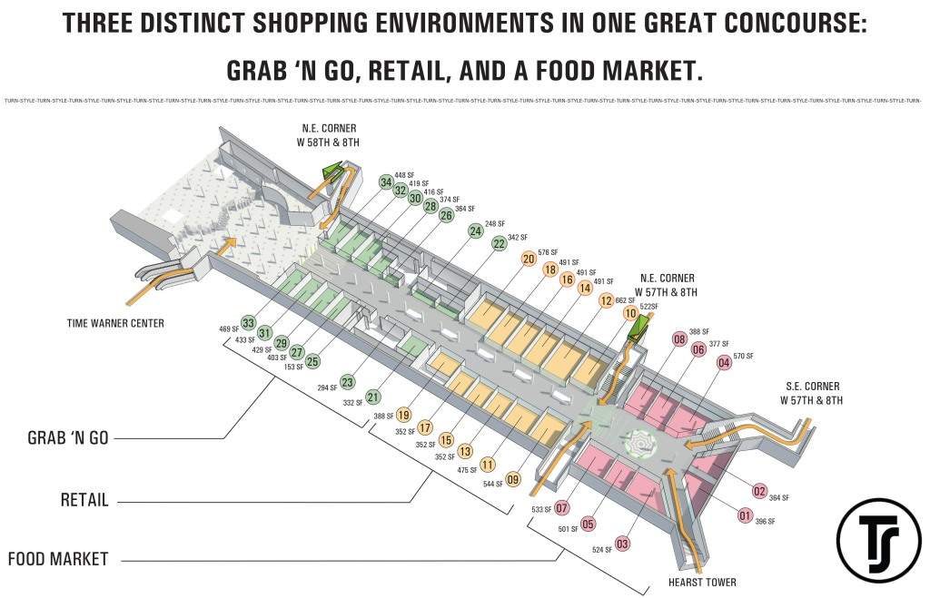 Floorplan for the Turn-Style marketplace
