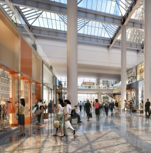 An interior rendering of the retail space at Brookfield Place (Credit: Brookfield Office Properties)