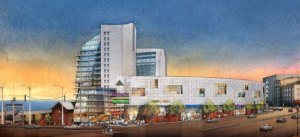A rendering of the Lighthouse Point mixed-use development. (Triangle Equities)