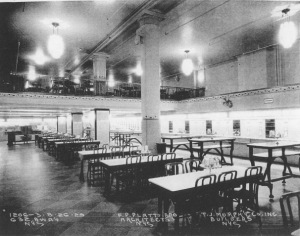 Inside the automat at 632 Broadway in 1929.