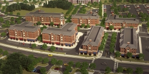 A rendering of the planned development at The College of New Jersey