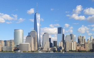 Lower Manhattan as seen from New Jersey.