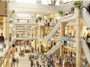 Rendering of the inside of Mall at Bay Plaza