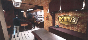 A rendering of the Denny's at 150 Nassau Street.