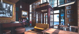 Rendering of the inside of the Denny's at 150 Nassau Street.