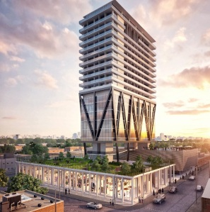 A rendering of Level Hotel Brooklyn.