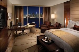 Rendering of a suite at Marriott Residence Inn.
