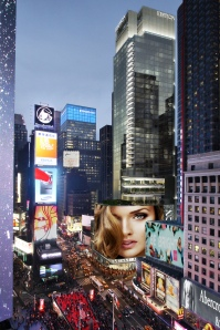A rendering of the 20 Times Square Edition hotel.