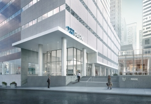 Rendering of the entrance to 237 Park Avenue.