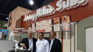 The Jersey Mike's booth at ICSC's RECon in Las Vegas. (Lauren Elkies Schram/Commercial Observer)