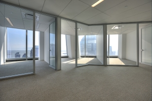 A prebuilt space at 1 World Trade Center.
