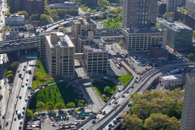 Bird's-eye view of the former Watchtower buildings. (Anthony Crisafulli)