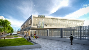 Rendering of Nordstrom Rack at Staten Island's Empire Outlets.