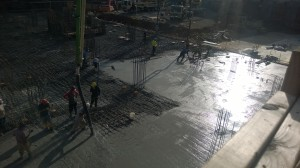 Concrete pour at Level Hotel Brooklyn. (Nick Liberis)