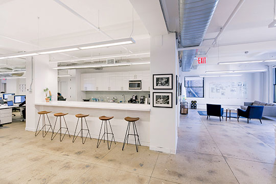 View the Space's office at View the Space's office at 142 West 36th Street.