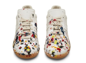 A $551 pair of women's Jackson Pollock replica low-top sneakers from Sneakerboy.