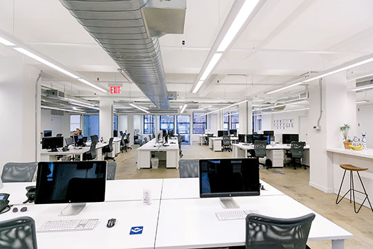 View the Space's office at 142 West 36th Street.