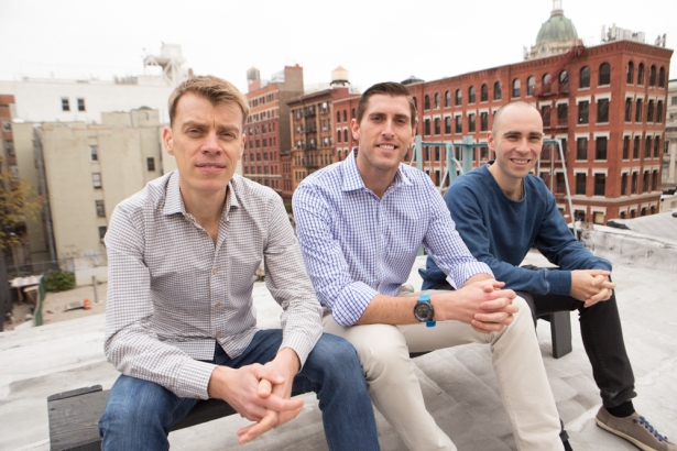 Co-founders Donald Desantis, Brandon Weber and Niall Smart (from left).