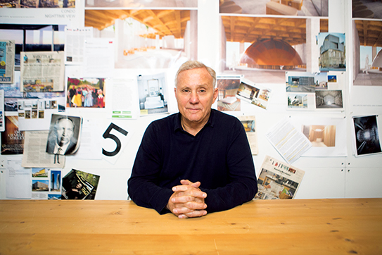 Stay Cool: Ian Schrager at his West Village office.