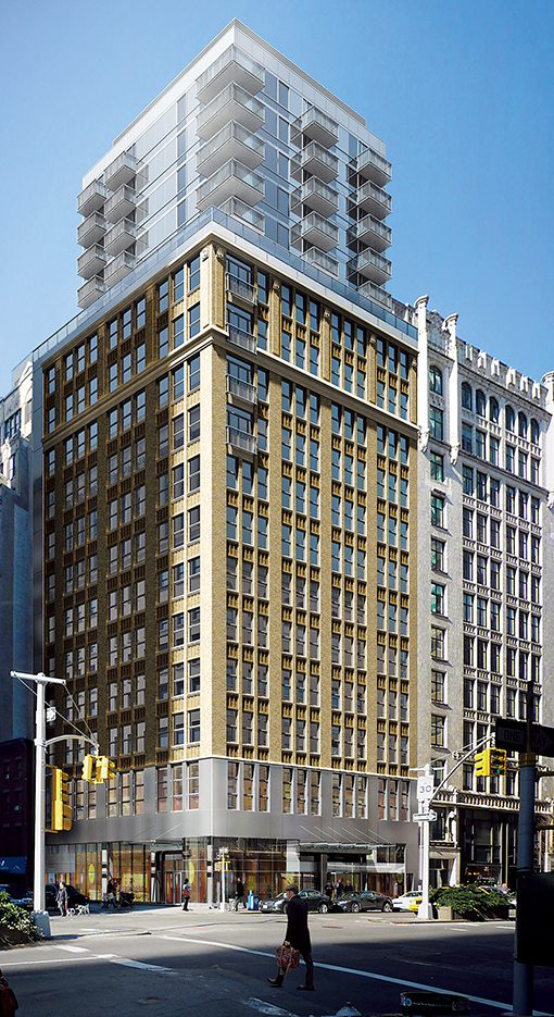 A rendering of SLS Hotel New York, scheduled to open in late 2015 at 444 Park Avenue South.