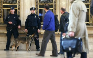Security in Grand Central Terminal after the Boston Marathon bombing. (Mario Tama/Getty Images)