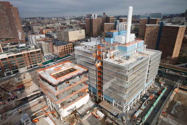 Manhattanville campus under construction