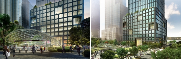 Renderings of 55 Hudson Yards. (Related, Oxford and Mitsui)