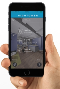 According to Hightower, their new partnership will make theirs the only leasing platform with 3-D tours on a mobile application.