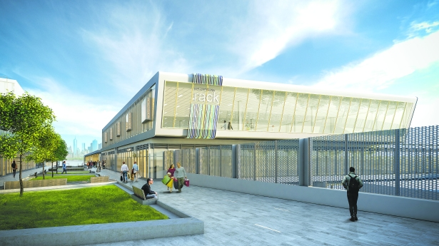 Rendering of Nordstrom Rack at Empire Outlets (Credit: SHoP Architects)