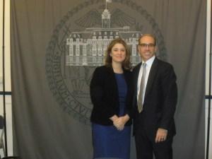 Deputy Mayor Alicia Glen and Staten Island Borough President Jimmy Oddo.