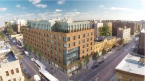A rendering of Hudson Companies' 310 Clarkson Avenue development.