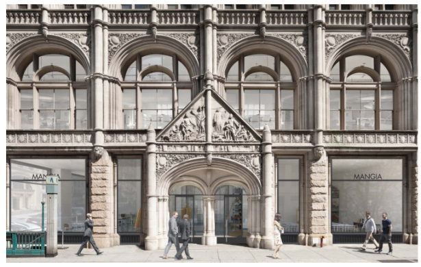 A rendering of the property at 281 Park Avenue South.