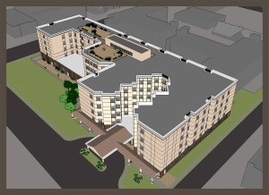 Woodmere Rehabilitation rendering.