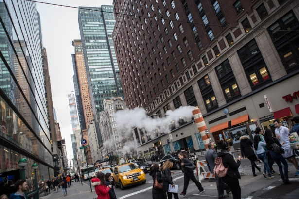 View of 57th Street from Eighth Avenue looking east (Photo: Arman Dzidzovic/Commercial Observer).