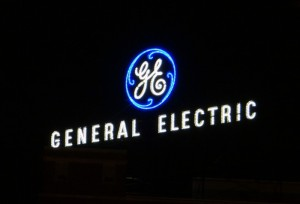 A General Electric sign.