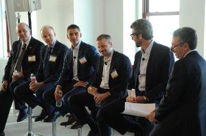 David Pospisil, Alexander Saint-Amand, Sacha Zarba, Andrew Kimball, Anthony Malkin and Jonathan Mechanic. (Photo: Owen Hoffmann/PatrickMcMullan.com)