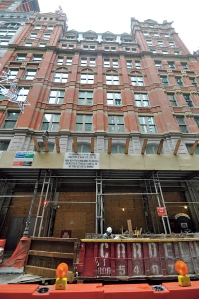 Steven Hurwitz's veteran construction workers are working to stay on target at 5 Beekman Street.