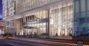 One of Ms. Baxter's current clients is Related, whose Hudson Yards project is bringing in Neiman Marcus (Rendering: Related).