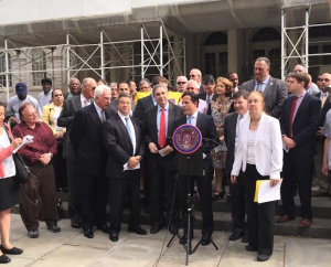 Today's press conference outside of City Hall.