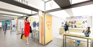 Rendering of the Turnstyle food hall.