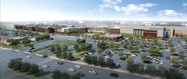 Aerial rendering of the Staten Island Mall expansion.