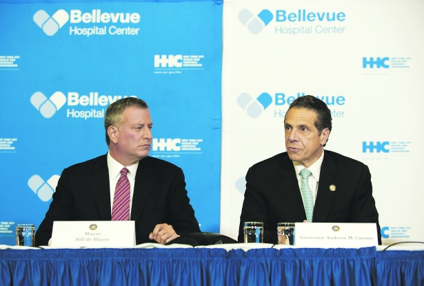 Mayor Bill de Blasio and Governor Andrew Cuomo (Photo: Bryan Thomas/Getty Images).