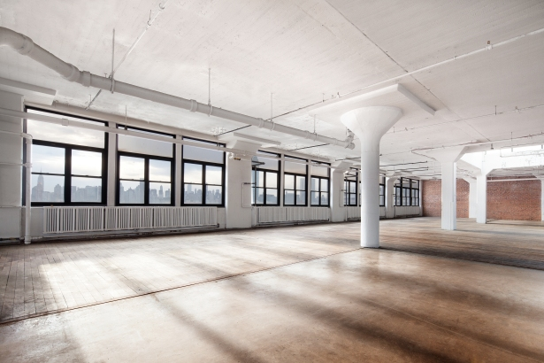 Many of the floors at The Factory have been kept as open space. (Photo: DBOX).