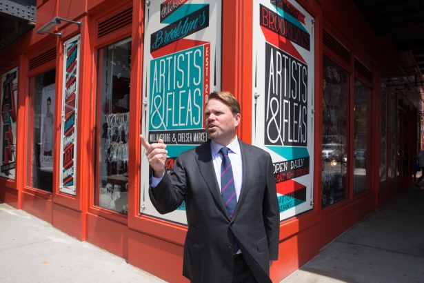 Michael Phillips, the president of Jamestown, in front of Chelsea Market (Photo: Arman Dzidzovic/Commercial Observer).