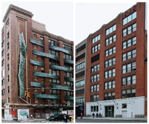 GOT MILK?: The Milk Building (right) and Chelsea Market (let) are two Jamestown properties.