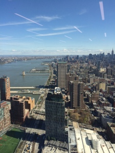 The view from High 5 Games' office at 1 World Trade Center.