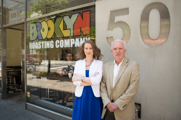 Two Trees Management Company's Elizabeth Bueno and Dan Conlon leased space to Brooklyn Roasting Company at 50 West 23rd Street (Photo: Arman Dzidzovic/Commercial Observer).