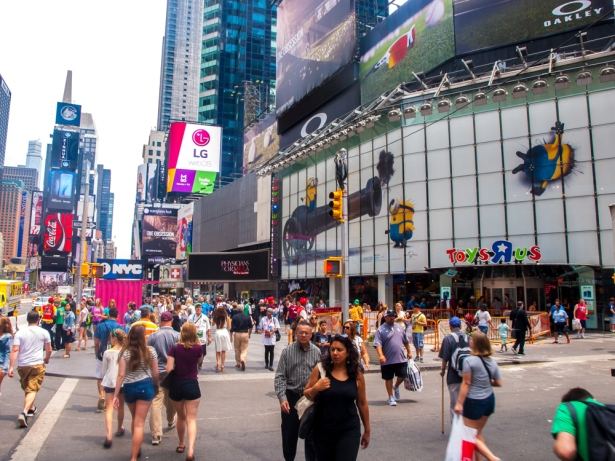 """Toys """"R"""" Us' announcement in March that it would leave 1514 Broadway kicked off a ruckus on what would happen with the massive space (Photo: Tashan Jackson/Commercial Observer)."""